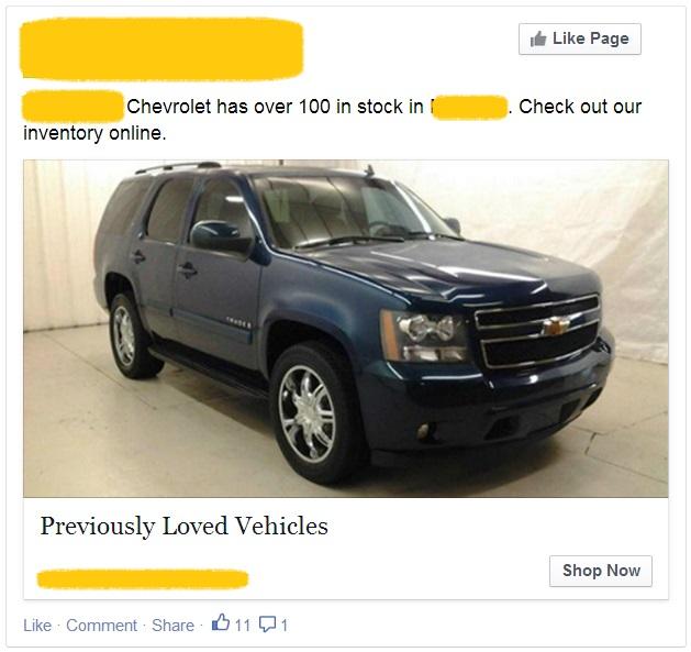 Facebook Inventory Ad